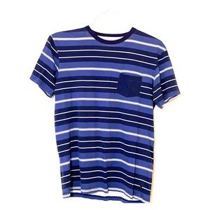Quiksilver Mens Short Sleeve Striped Pocket Tee